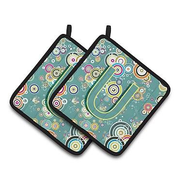 Caroline's Treasures Circle Potholder (Set of 2); U