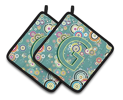 Caroline's Treasures Circle Potholder (Set of 2); G