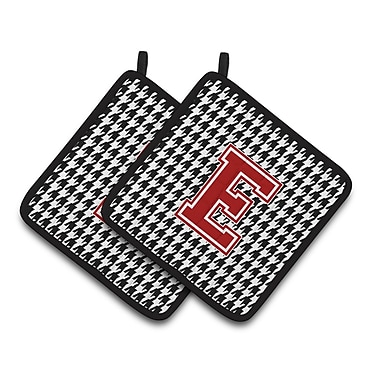 Caroline's Treasures Houndstooth Potholder (Set of 2); E