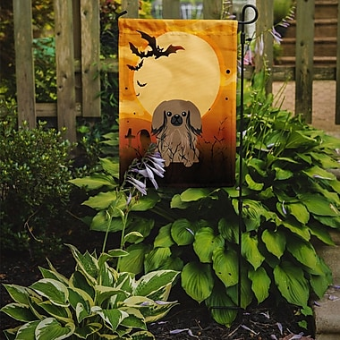 Caroline's Treasures Halloween Pekingnese 2-Sided Garden Flag; Tan
