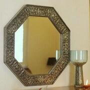 Novica Floral Cloud Wall Mirror