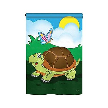 TwoGroupFlagCo Turtle 2-Sided Vertical Flag; 18.5'' H x 13'' W