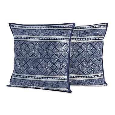 Novica Thai Artisan Crafted Batik Cotton Pillow Cover (Set of 2)