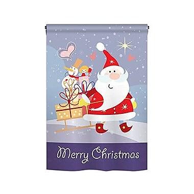 TwoGroupFlagCo Santa's Star 2-Sided Vertical Flag; 18.5'' H x 13'' W