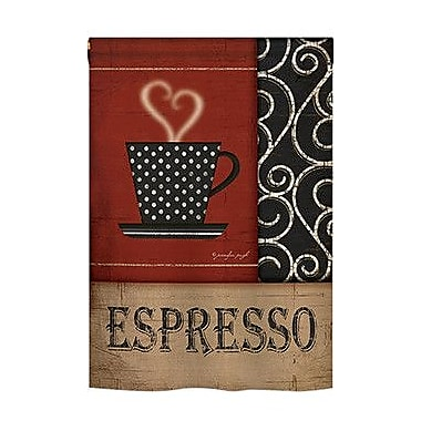 TwoGroupFlagCo Espresso 2-Sided Vertical Flag; 40'' H x 28'' W