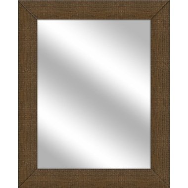 PTM Images Vanity Wall Mirror; Natural Brown