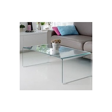 Fab Glass and Mirror Coffee Table; Clear