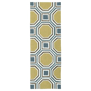Varick Gallery Doylestown Hand-Tufted Gold Indoor/Outdoor Area Rug; 5' x 7'6''