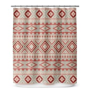 Loon Peak Cabarley Shower Curtain; Tan