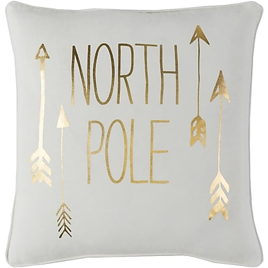 The Holiday Aisle Holiday North Pole Throw Pillow; 18x18 Cover
