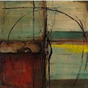 'Modern Abstract' 2 Piece Rectangle Framed Oil Painting Print Set on Wrapped Canvas (Set of 2)