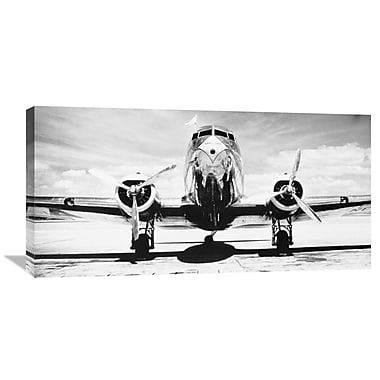 Latitude Run 'Passenger Airplane on Runway' Photographic Print on Wrapped Canvas