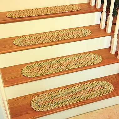 Wildon Home Dayl Sand/Natural Indoor/Outdoor Stair Tread (Set of 13)