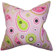 Zoomie Kids Eleada Floral Cotton Throw Pillow Cover