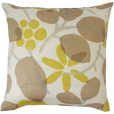 Bloomsbury Market Delit Floral Linen Throw Pillow; 24'' x 24''