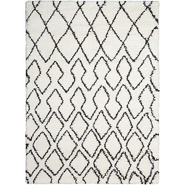 Calvin Klein Rugs Riad Ivory/Black Area Rug; 4' x 6'