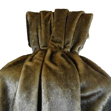 Plutus Brands Wild Mink Fur Handmade Throw Pillow; 72'' L x 60'' W