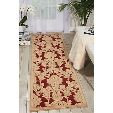 Alcott Hill Riffe Red Area Rug; Runner 2'3'' x 8'
