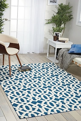 Breakwater Bay Gerard Blue/Beige Area Rug; 8' x 10'