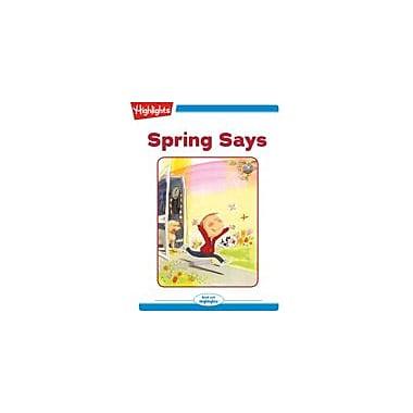 Highlights for Children Spring Says Reading & Writing Workbook, Kindergarten - Grade 2 [eBook + Audio]