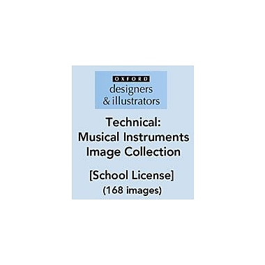 Oxford Designers and Illustrators Technical Musical Instruments Image Collection (168 Images), School License [eBook]