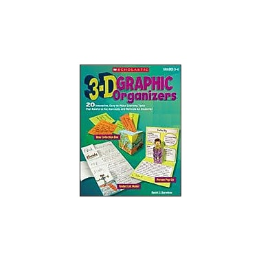 Scholastic 3-D Graphic Organizers Art & Music Workbook, Grade 3 - Grade 6 [Enhanced eBook]