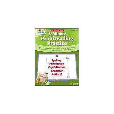 Scholastic 5-Minute Proofreading Practice Computers Workbook, Grade 4 - Grade 8 [eBook]