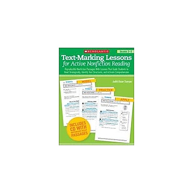 Scholastic Text-Marking Lessons for Active Nonfiction Reading Reading & Writing Workbook, Grade 2 - Grade 3 [eBook]