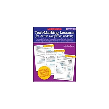 Scholastic Text-Marking Lessons for Active Nonfiction Reading Reading & Writing Workbook, Grade 4 - Grade 8 [eBook]