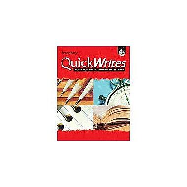 Shell Education Quick Writes Secondary Language Arts Workbook, Grade 7 - Grade 12 [Enhanced eBook]