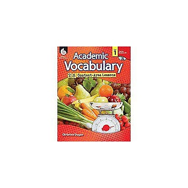 Shell Education Academic Vocabulary: 25 Content-Area Lessons Level 1 Language Arts Workbook, Grade 1 [Enhanced eBook]