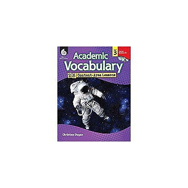Shell Education Academic Vocabulary: 25 Content-Area Lessons Level 3 Language Arts Workbook, Grade 3 [Enhanced eBook]