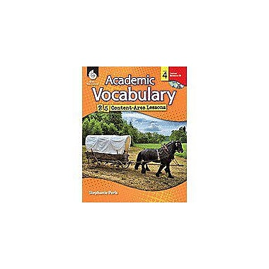 Shell Education Academic Vocabulary: 25 Content-Area Lessons Level 4 Language Arts Workbook, Grade 4 [Enhanced eBook]