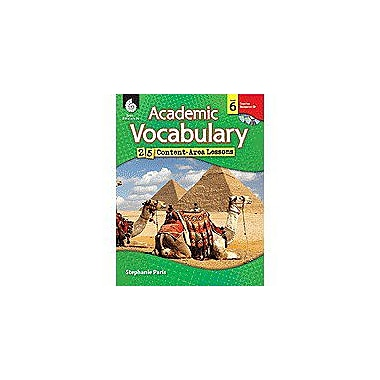 Shell Education Academic Vocabulary: 25 Content-Area Lessons Level 6 Language Arts Workbook, Grade 6 [Enhanced eBook]