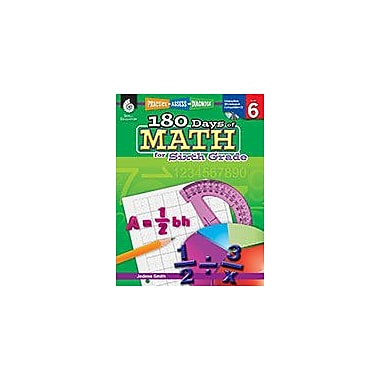 Shell Education 180 Days of Math for Sixth Grade Math Workbook, Grade 6 [eBook]