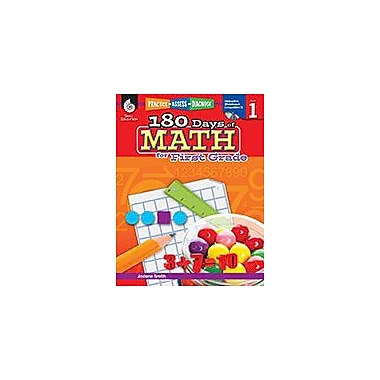 Shell Education 180 Days of Math for First Grade Math Workbook, Grade 1 [Enhanced eBook]