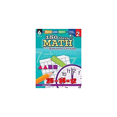 Shell Education 180 Days of Math for Second Grade Math Workbook, Grade 2 [eBook]