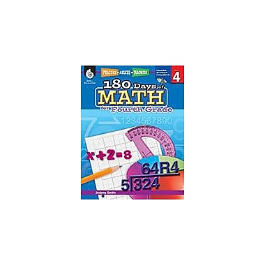 Shell Education 180 Days of Math for Fourth Grade Math Workbook, Grade 4 [Enhanced eBook]