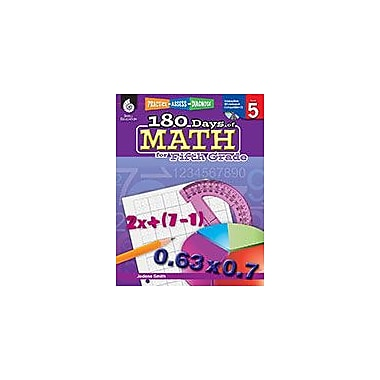 Shell Education 180 Days of Math for Fifth Grade Math Workbook, Grade 5 [Enhanced eBook]
