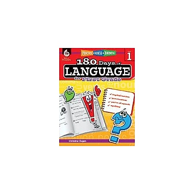 Shell Education 180 Days of Language for First Grade Language Arts Workbook, Grade 1 [eBook]