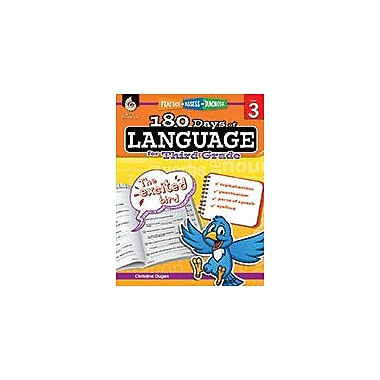 Shell Education 180 Days of Language for Third Grade Language Arts Workbook, Grade 3 [eBook]