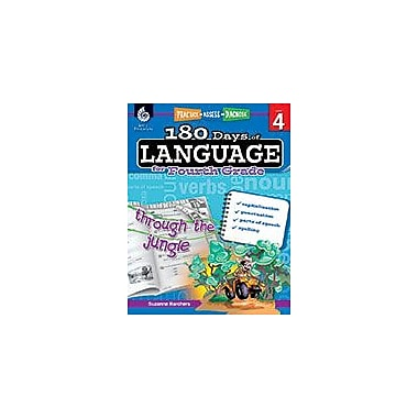 Shell Education 180 Days of Language for Fourth Grade Language Arts Workbook, Grade 4 [eBook]