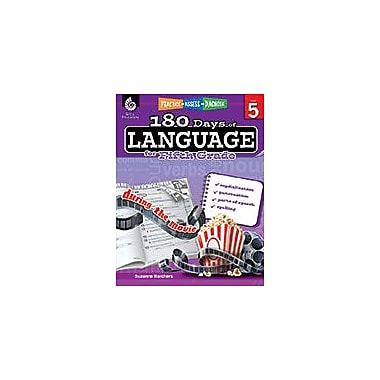 Shell Education 180 Days of Language for Fifth Grade Language Arts Workbook, Grade 5 [eBook]