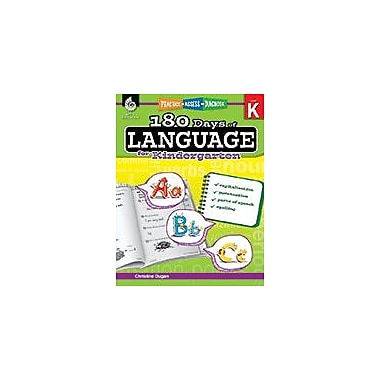 Shell Education 180 Days of Language for Kindergarten Language Arts Workbook, Kindergarten [eBook]