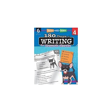 Shell Education 180 Days of Writing for Fourth Grade Reading & Writing Workbook, Grade 4 [eBook]