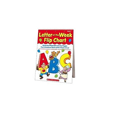 Scholastic Letter of the Week Flip Chart Language Arts Workbook, Preschool - Grade 1 [Enhanced eBook]