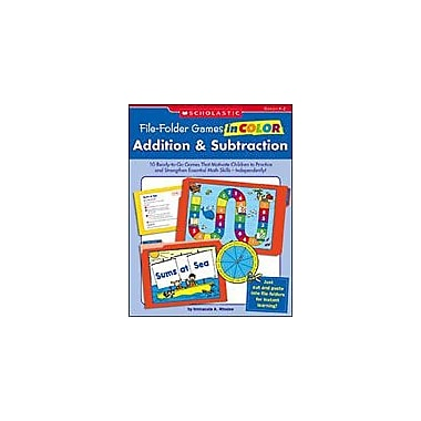 Scholastic File-Folder Games In Color: Addition and Subtraction Puzzles Workbook, Kindergarten - Grade 2 [eBook]