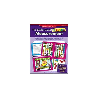 Scholastic File-Folder Games In Color: Measurement Puzzles Workbook, Kindergarten - Grade 2 [eBook]
