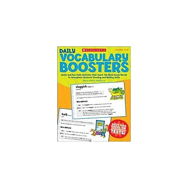 Scholastic Daily Vocabulary Boosters Reading & Writing Workbook, Grade 3 - Grade 4 [eBook]
