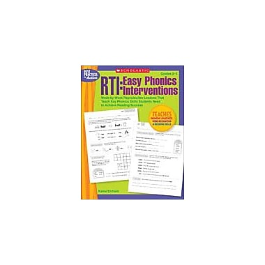 Scholastic Rti: Easy Phonics Interventions Reading & Writing Workbook, Grade 2 - Grade 3 [eBook]